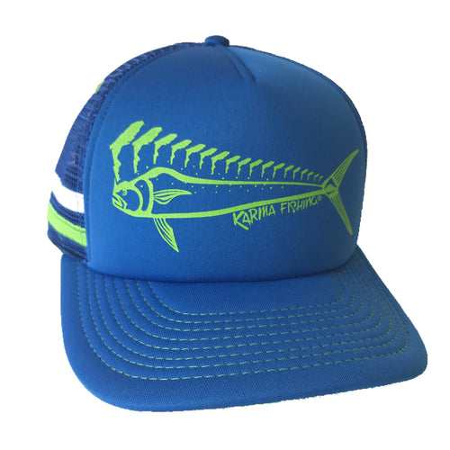 Florida Mahi Trucker Deluxe, Lime/Royal