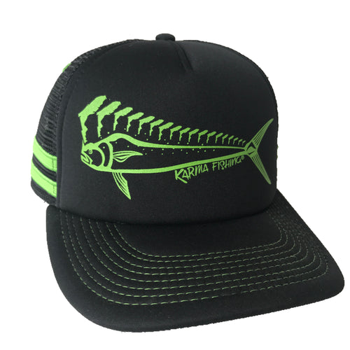 Florida Mahi Trucker Deluxe, Lime/Black