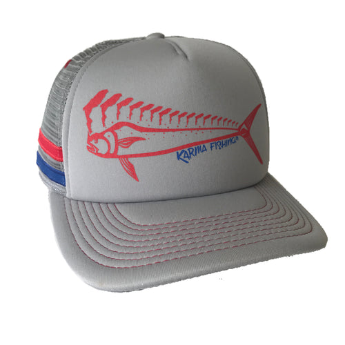 Florida Mahi Trucker Deluxe, Red/Grey