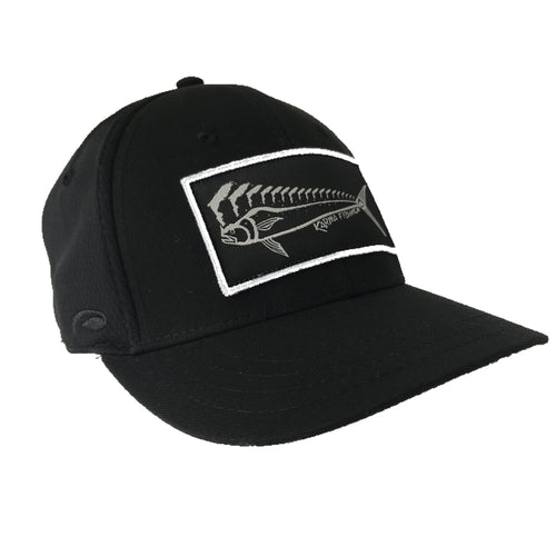 mahi-mahi flex fitted trucker hat with florida on the mahi-mahi