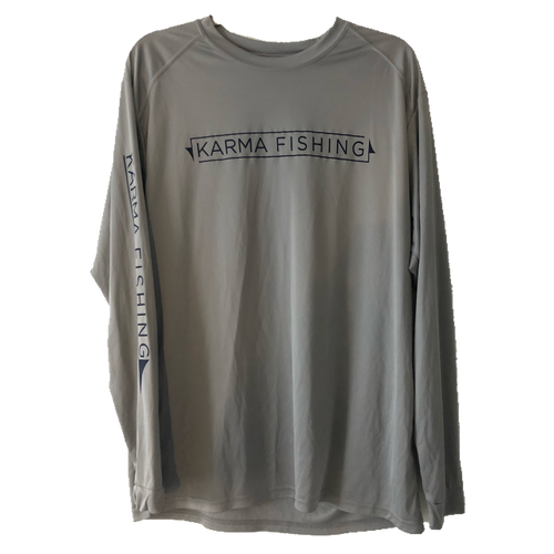 Classic Long Sleeve Performance Shirt, Grey