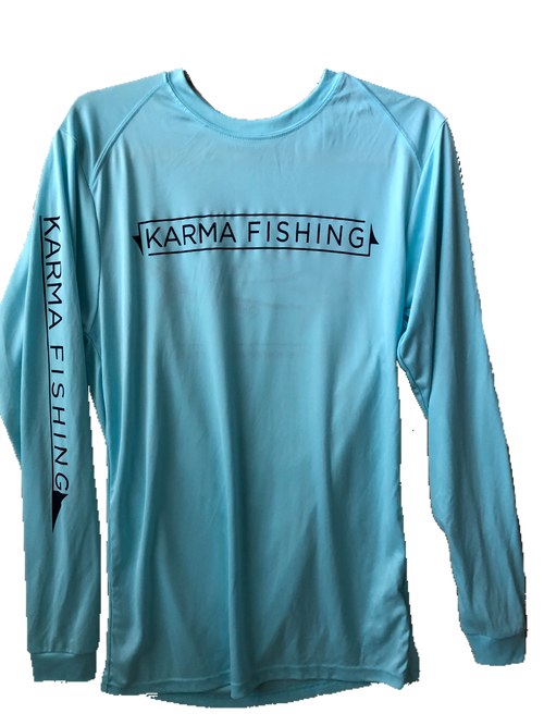 Classic Long Sleeve Performance Shirt, Aqua
