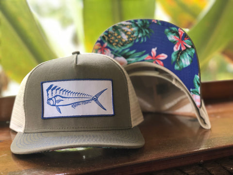 Florida Mahi Ultimate Trucker, Black with Floral
