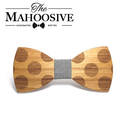 Mahoosive Classic Dot Wood Bow Tie - woodfashionista.com