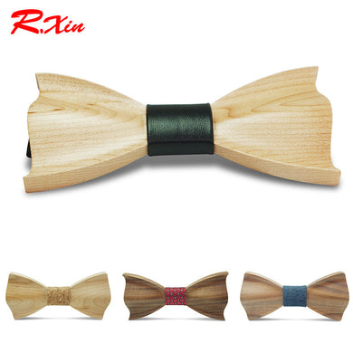 Three Dimensional Wooden Bow Tie - woodfashionista.com