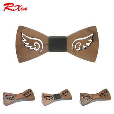 Handmade Wing Inspired Wooden Bowties - woodfashionista.com