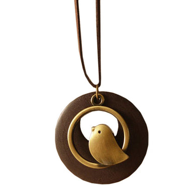 Bird Pendant Necklace - woodfashionista.com