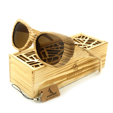 BOBO BIRD 2017 Oval Retro Pilot Wood Sun Glasses - woodfashionista.com