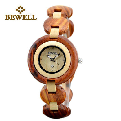 BEWELL (4957487) Womens Luxury Wooden Wristwatches - woodfashionista.com