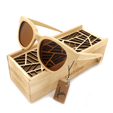 BOBO BIRD 2017 Bamboo Polarized Retro Sun Glasses With Wooden Box - woodfashionista.com