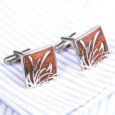 Nature Inspired Redwood Cufflinks - woodfashionista.com