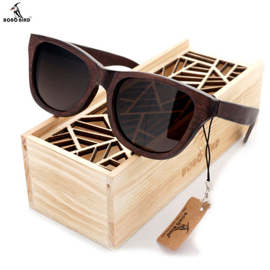 BOBO BIRD Ebony Wooden Sunglasses With Wooden Gift Box - woodfashionista.com
