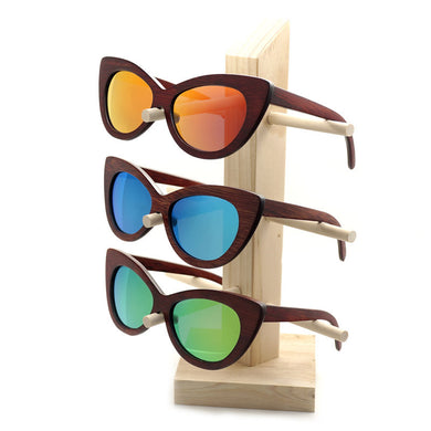BOBO BIRD Rosewood Sun Glasses with bamboo box - woodfashionista.com