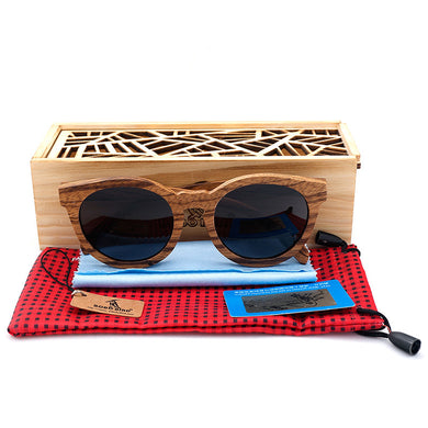 BOBO BIRD 2017 Retro Zebra Wood Sunglasses With Wooden Box - woodfashionista.com