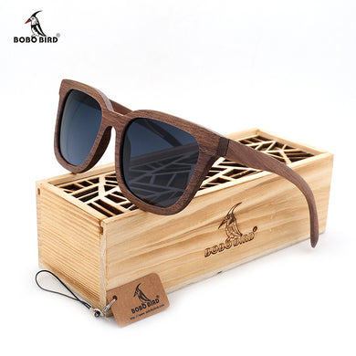 BOBO BIRD 2017 Black Walnut Retro Sunglasses with Wooden Box - woodfashionista.com
