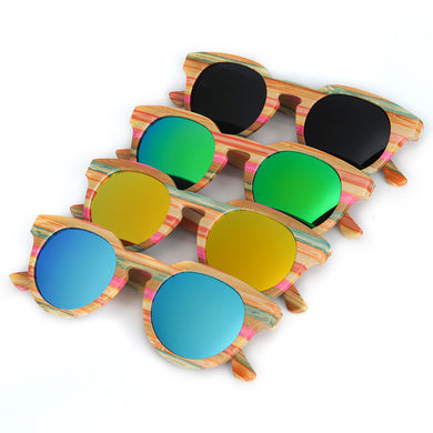 BOBO BIRD 2017 Striped Bamboo Sunglasses With Wooden Box - woodfashionista.com