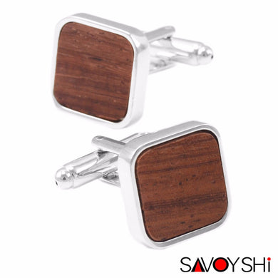 SAVOYSHI 2017 Square Cufflinks - woodfashionista.com
