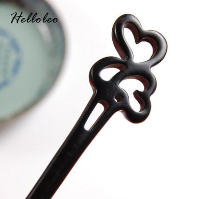 Hand Carved Love Hearts Hair Stick - woodfashionista.com