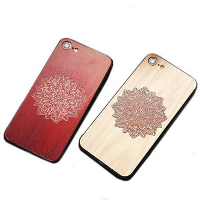 3D Embossed Flower Wooden Phone Cases - woodfashionista.com