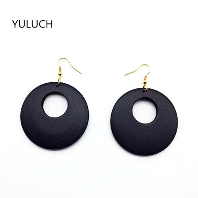 Black Wooden Earrings - woodfashionista.com