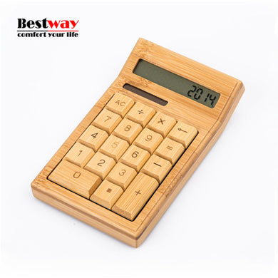 Bamboo Solar Calculator For Your Desk - woodfashionista.com