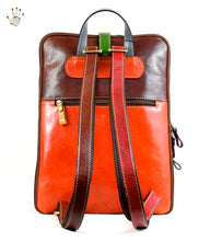 Multicolor Leather Backpack