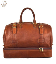 Large Leather Luggage with Shoe Compartment