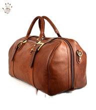 Travel Leather Luggage Bag