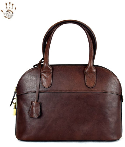 Small Vegetable Tanned Leather Bag