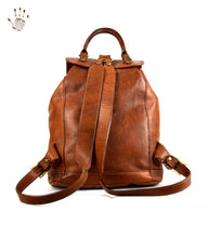 Brown Leather Backpack