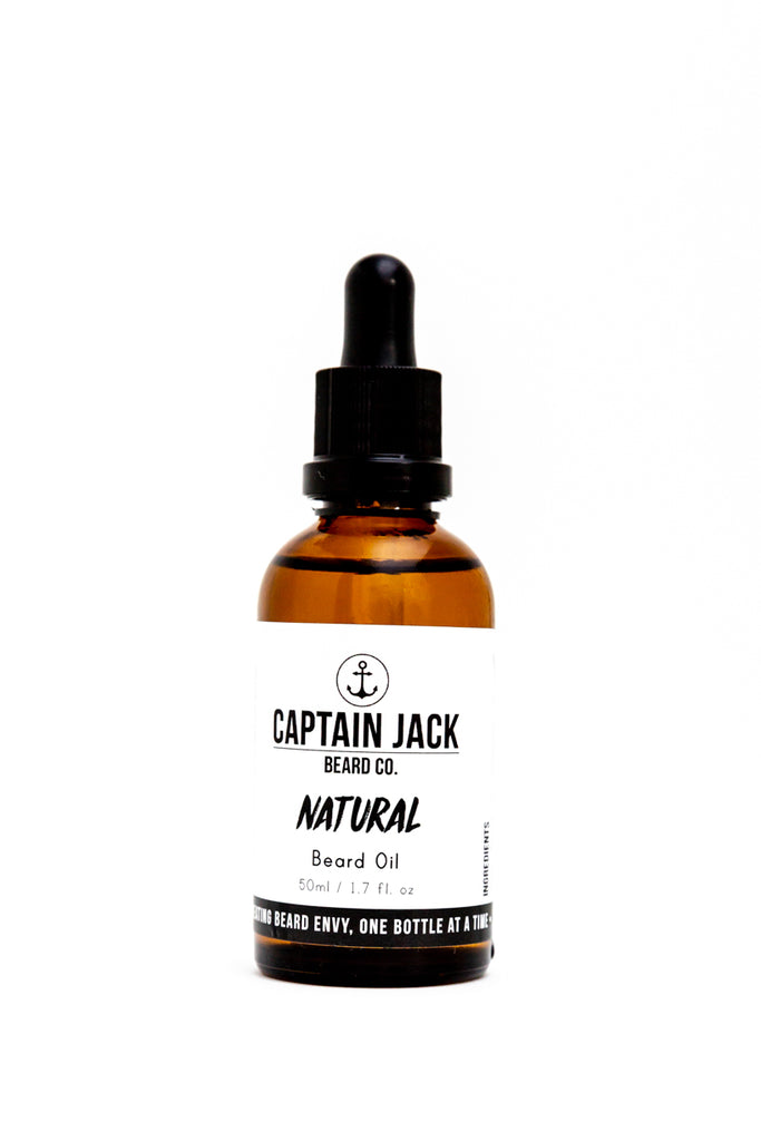 Natural (Unscented) Beard Oil - 50ml