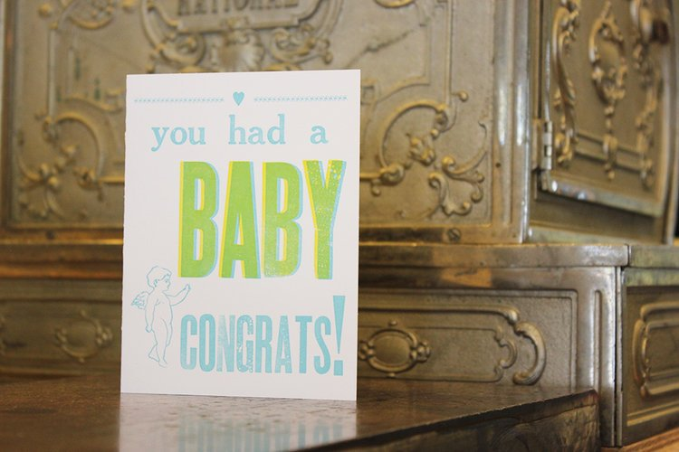 Congrats Baby Boy Card