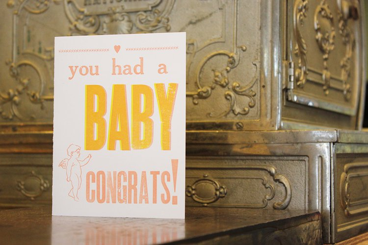 Congrats Baby Girl Card