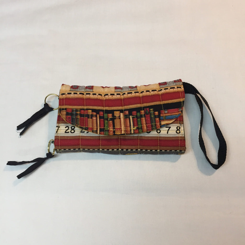 School House Fun Embroidered Clutch Purse