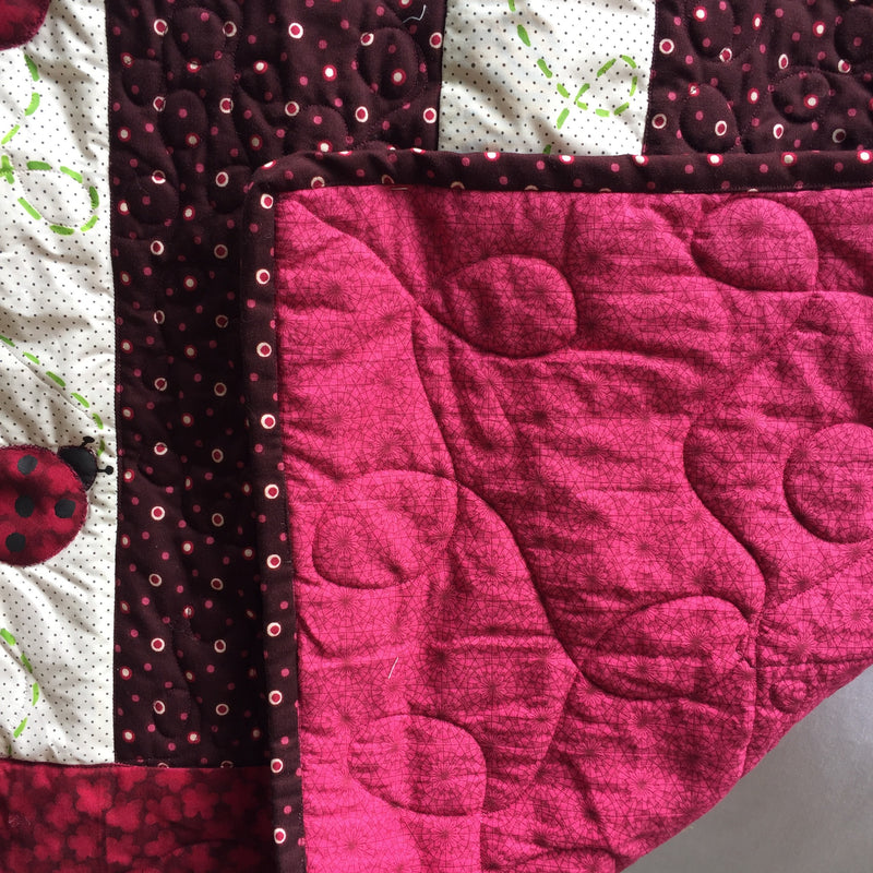 Loopy Ladybugs Baby Toddler Quilt & Playmat