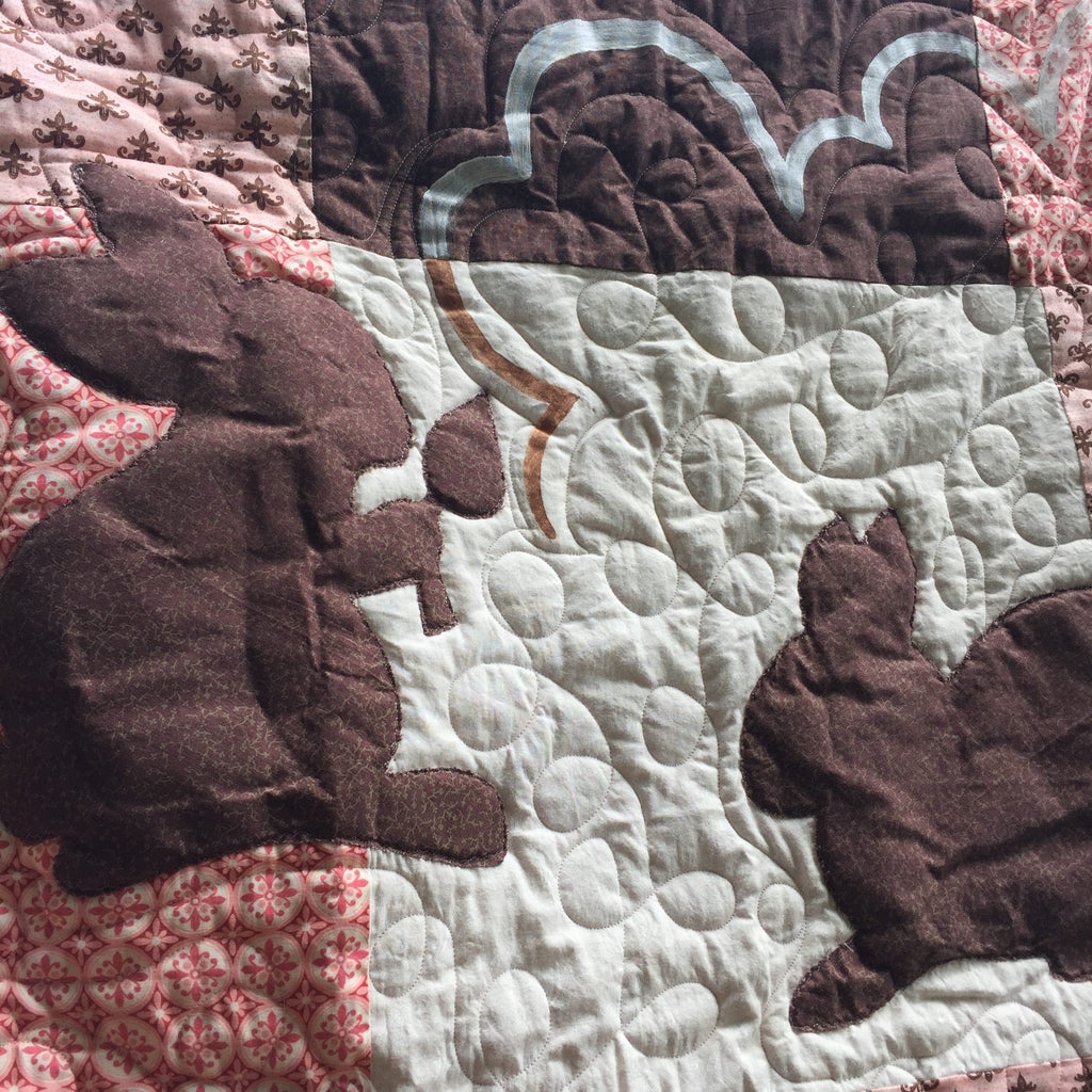 Love Bunny Baby Toddler Quilt & Playmat