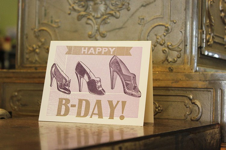 Birthday With Shoes Card