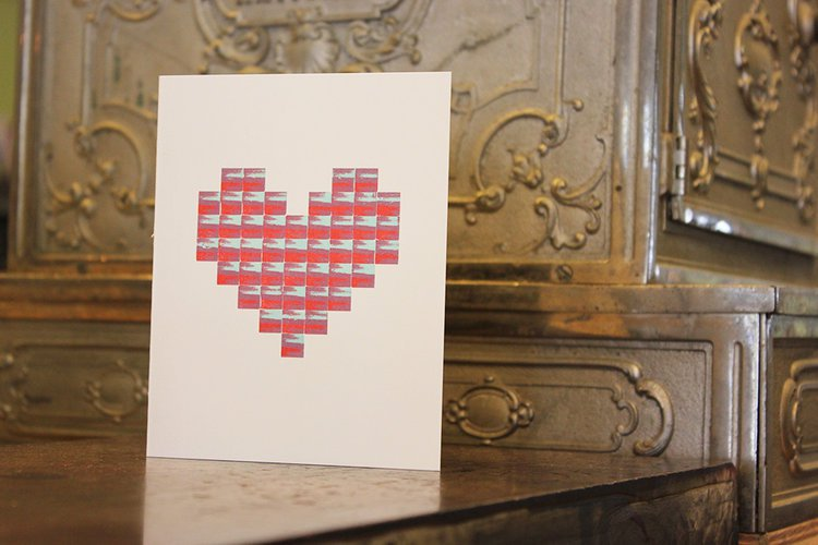 Type Heart Card