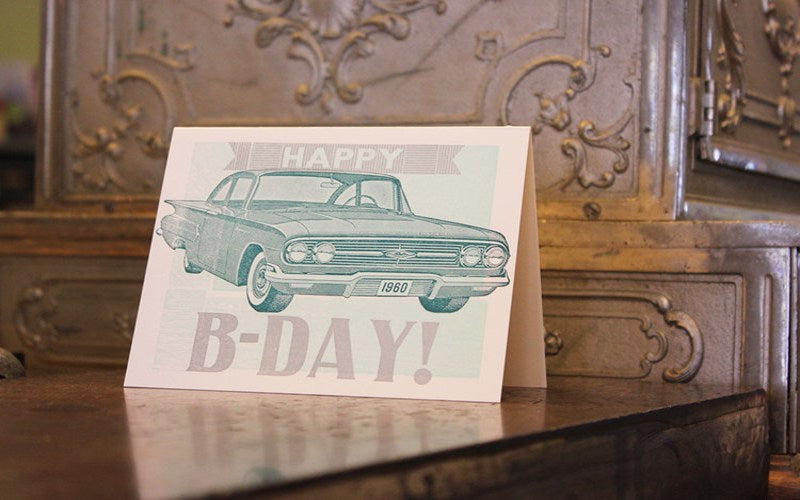 Car Birthday Card