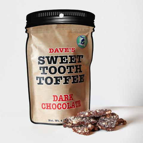 Dave's Sweet Tooth Toffee Dark Chocolate - 4 oz.