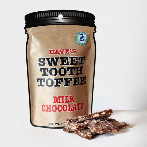 Dave's Sweet Tooth Toffee Milk Chocolate - 4 oz.