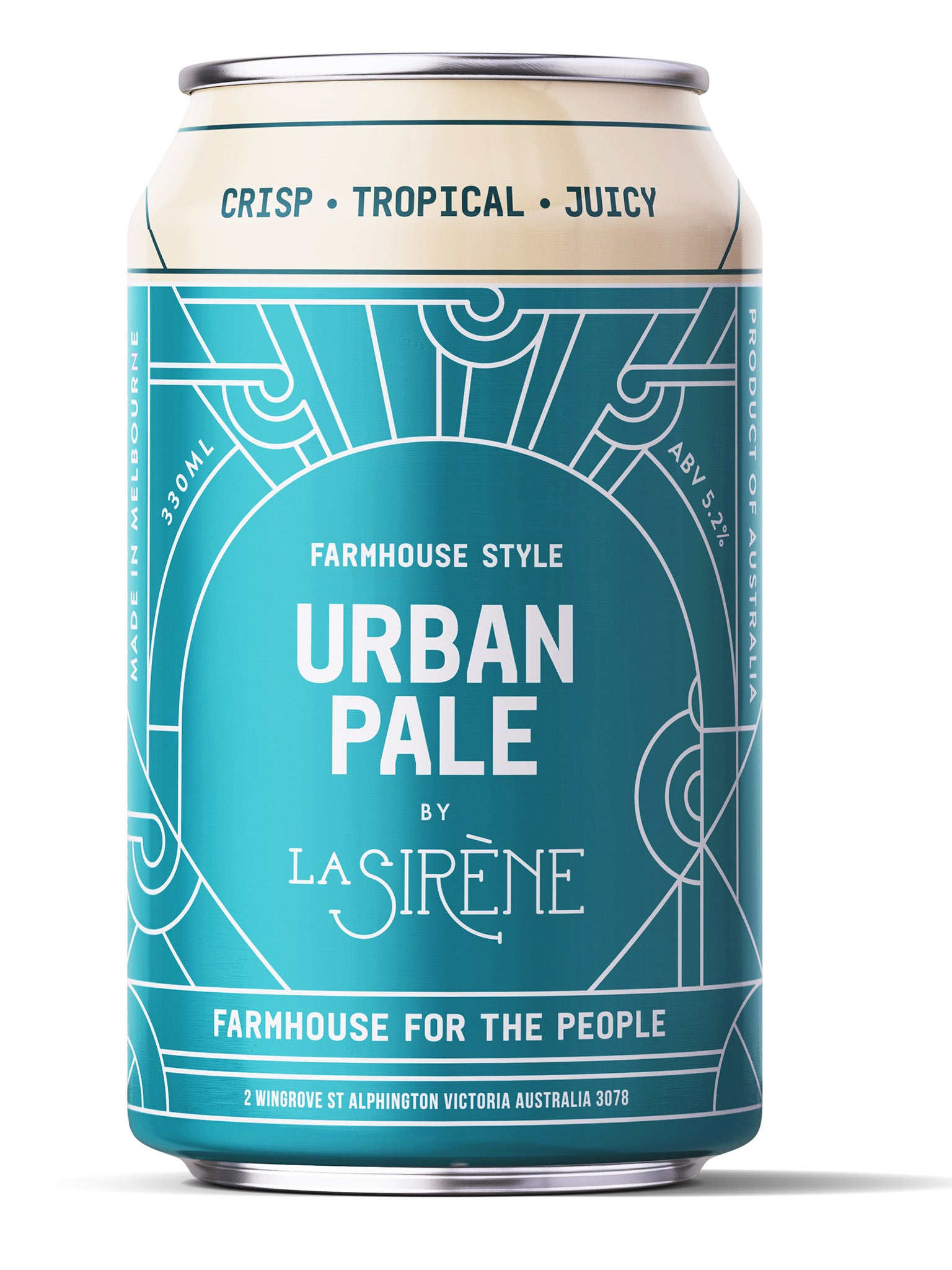 La Sirene Urban Pale Ale 330ml Can 24pk