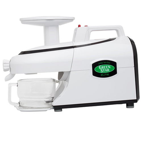 Tribest GSE-5000-B Green Star Elite Jumbo Twin Gear Cold Press Juice Extractor (Available in White, Black, or Chrome)