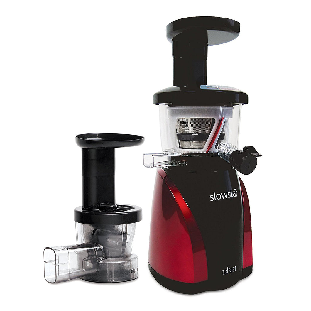 Tribest SW-2000-B Slowstar Vertical Slow Cold Press Juicer and Mincer, Red/Black