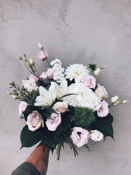 Softs Pinks and White Bouquet