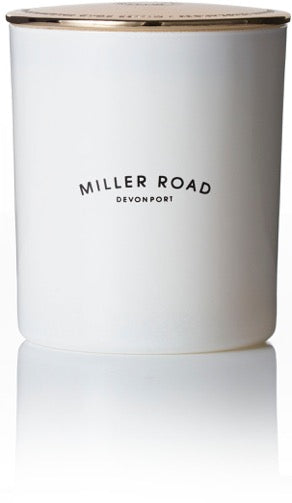 Miller Road Candle - Deluxe white with gold lid