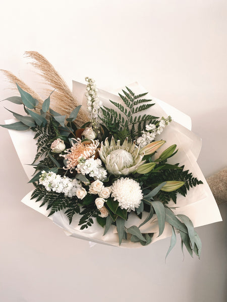 Whites and Green Bouquet