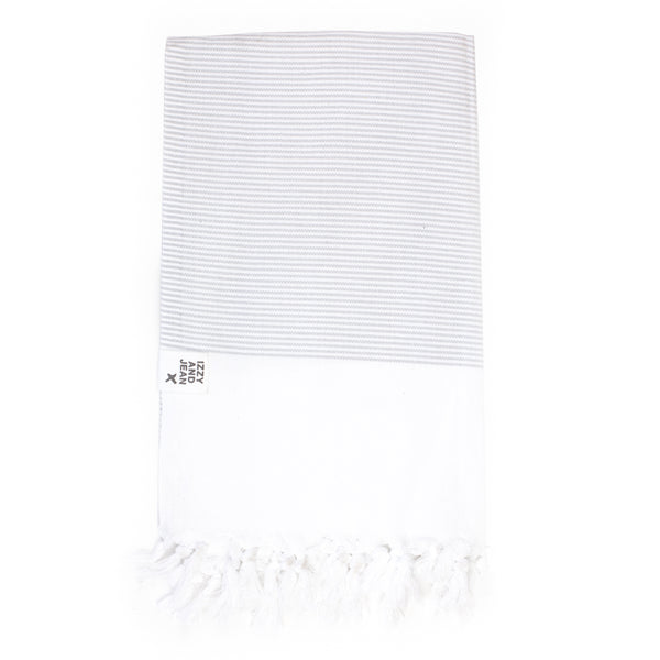 Manhattan Turkish Towel - Grey