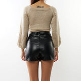 Sexy Wrap Around Crop Top Sweater