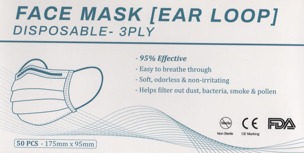 Disposable Face Mask 50 per Box